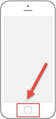 """כפתור """"בית"""" באייפון"""